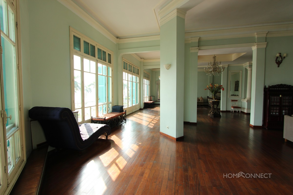 Spectacular 3 bedroom French Colonial apartment on Riverside | Phnom Penh