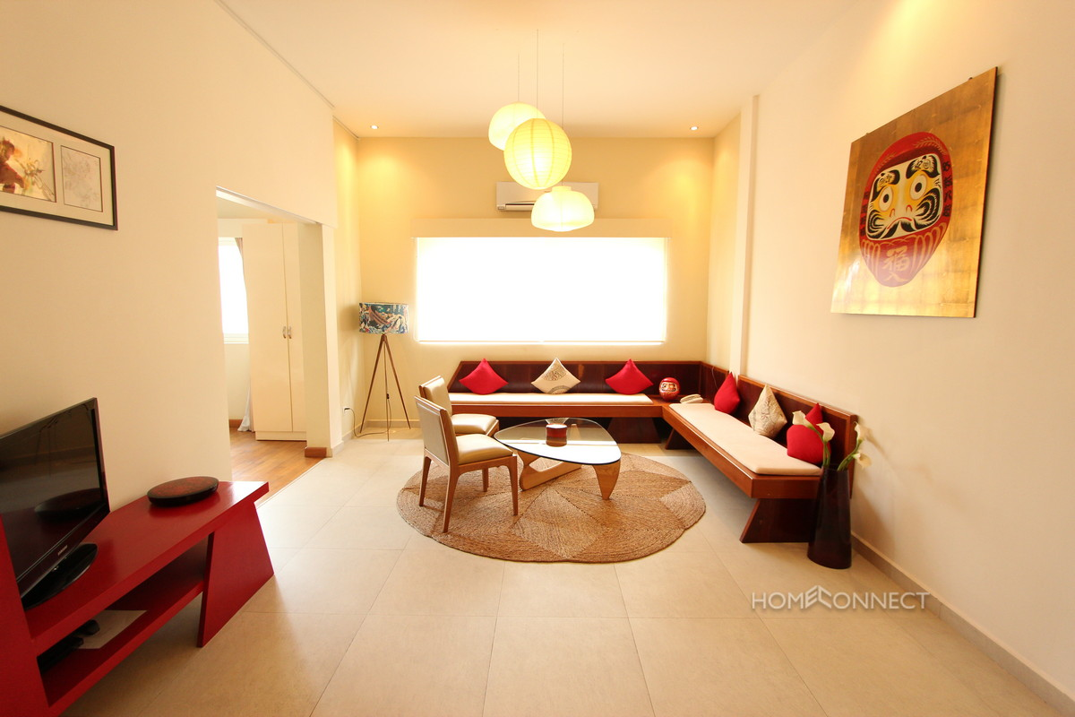 Situated in a converted colonial building these apartments for rent offer a blend of the old with the modern. Each apartment has been stylishly decorated to a high standard and furnished with a mixture of antique and contemporary furniture.