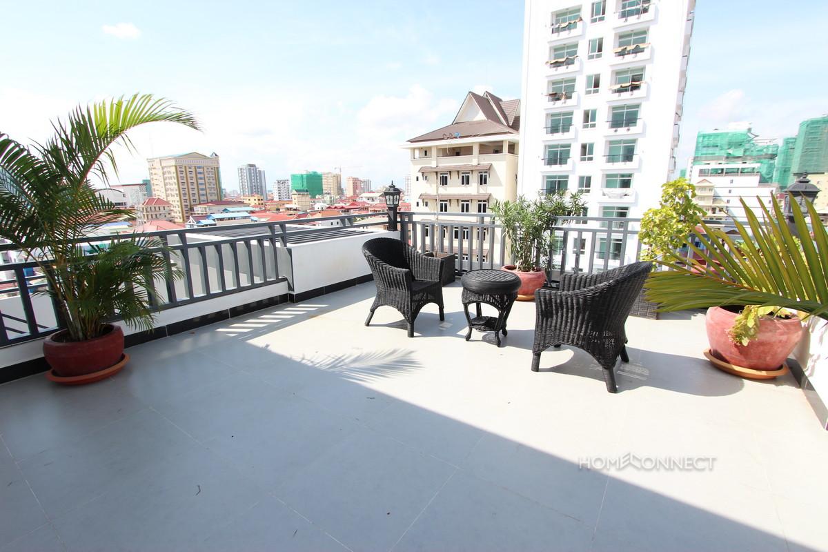 Large Terrace 2 Bedroom Apartment For Rent In BKK3 | Phnom Penh Real Estate