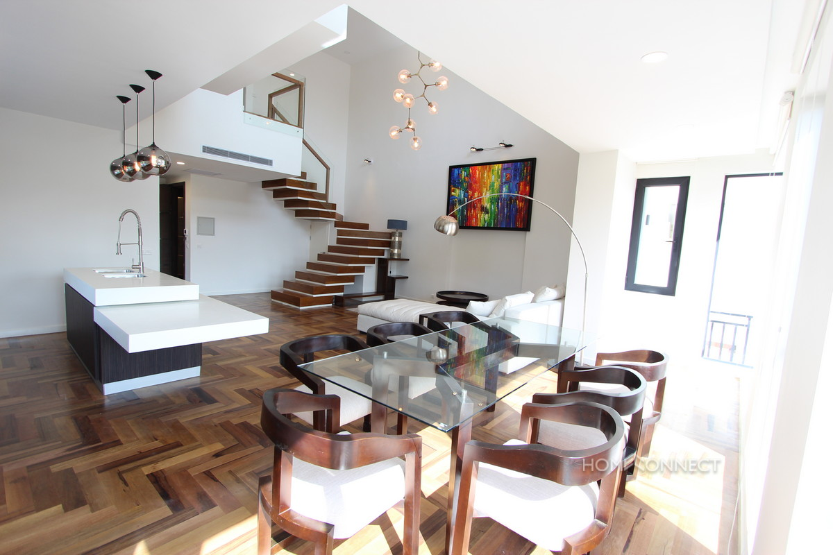 Stylish 3 Bedroom Duplex Condo in Tonle Bassac | Phnom Penh Real Estate