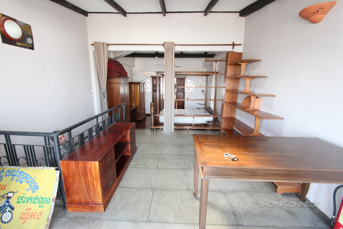 French Colonial 1 Bedroom Apartment for Rent on Riverside | Phnom Penh Real Estate