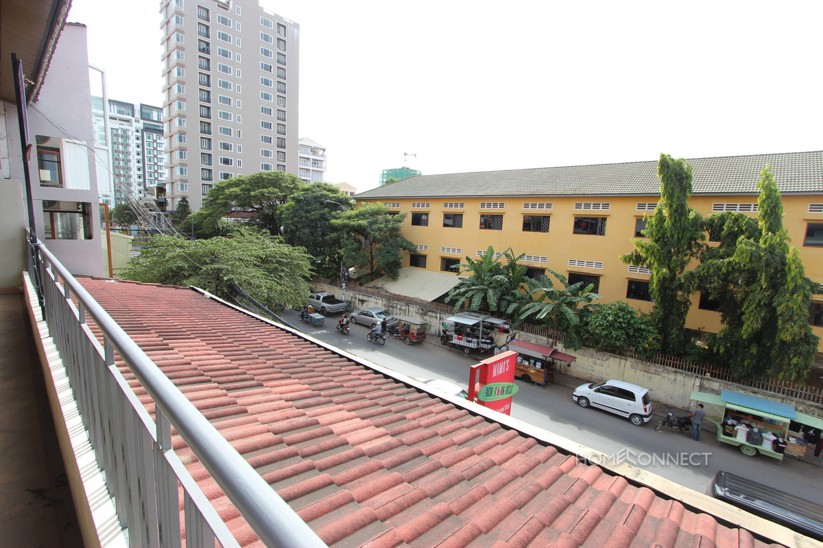 Large Terraced 2 Bedroom Apartment in BKK1 | Phnom Penh Real Estate
