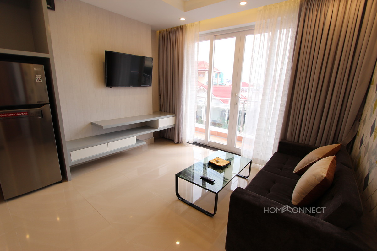 Modern 1 Bedroom Apartment For Rent Beside Olympic Stadium | Phnom Penh Real Estate