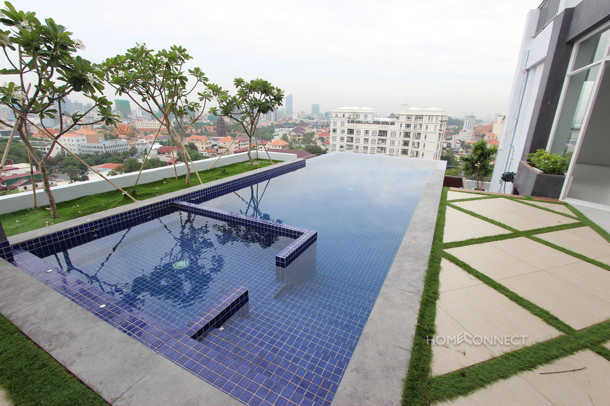 Western Style Modern Penthouse Close to Independence Monument | Phnom Penh Real Estate