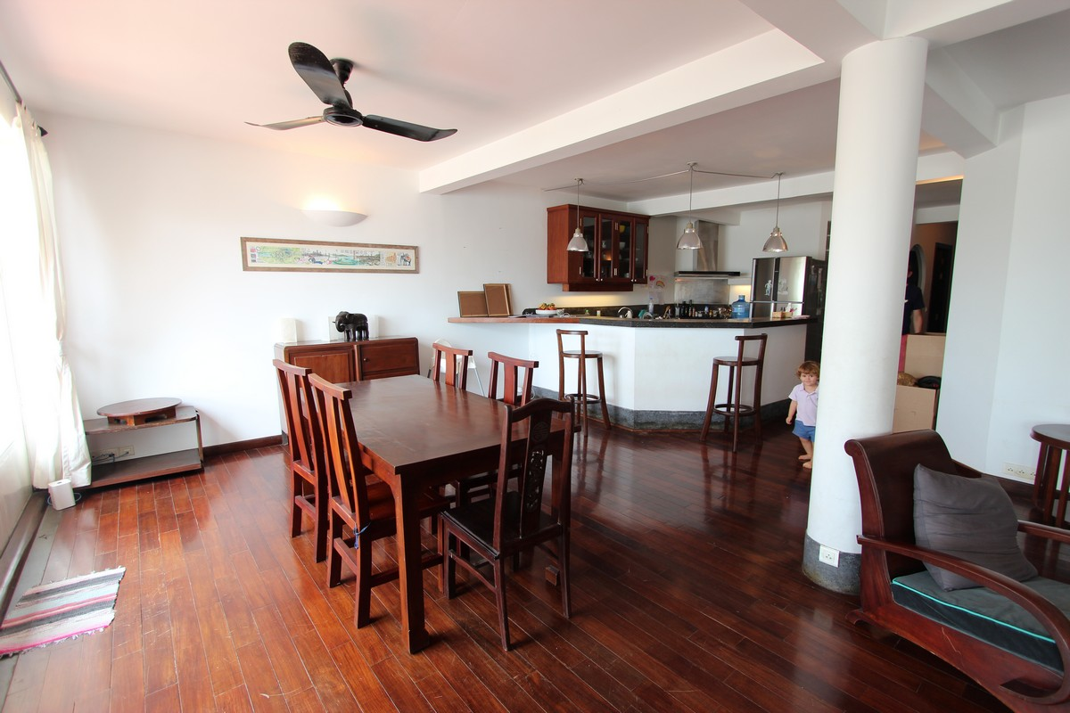 French Colonial 3 Bedroom Apartment For Rent on Riverside | Phnom Penh Real Estate