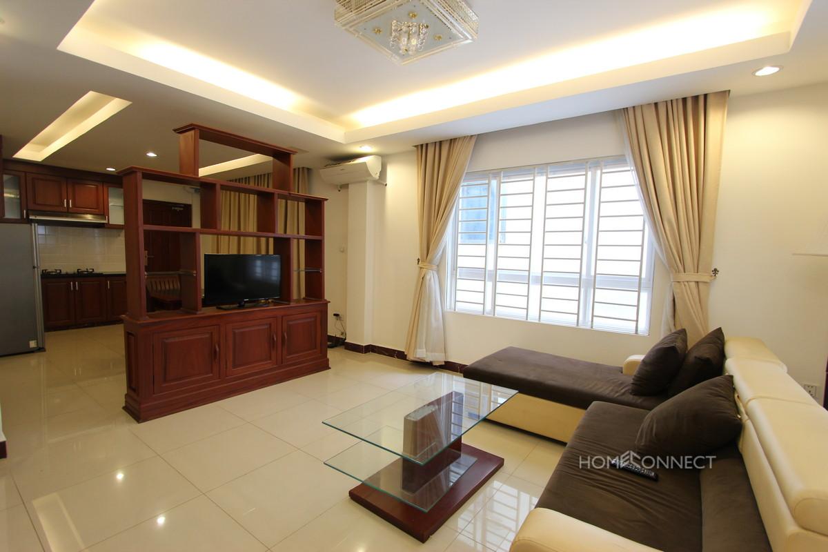 Spacious 1 Bedroom 1 Bathroom Apartment in Tonle Bassac | Phnom Penh Real Estate