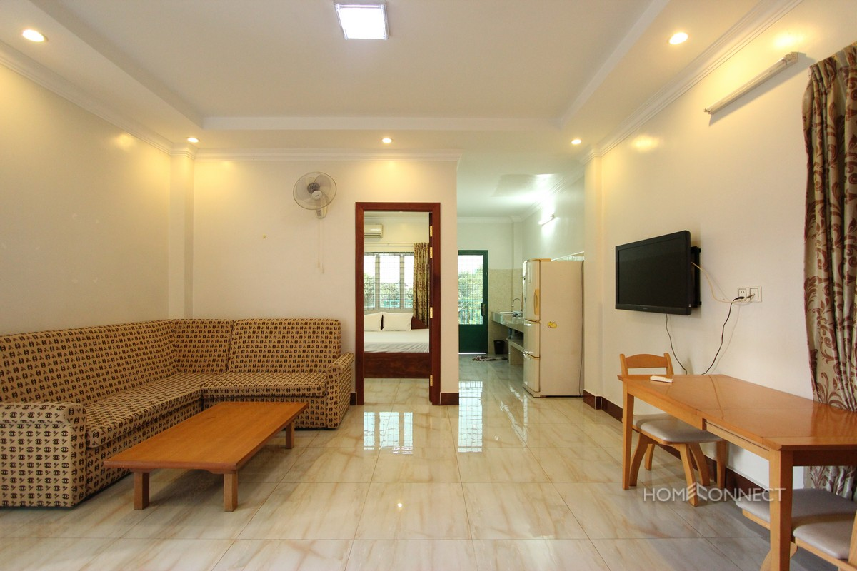 Spacious 2 Bedroom 2 Bathroom Apartment for Rent near Tonle Bassac | Phnom Penh Real Estate