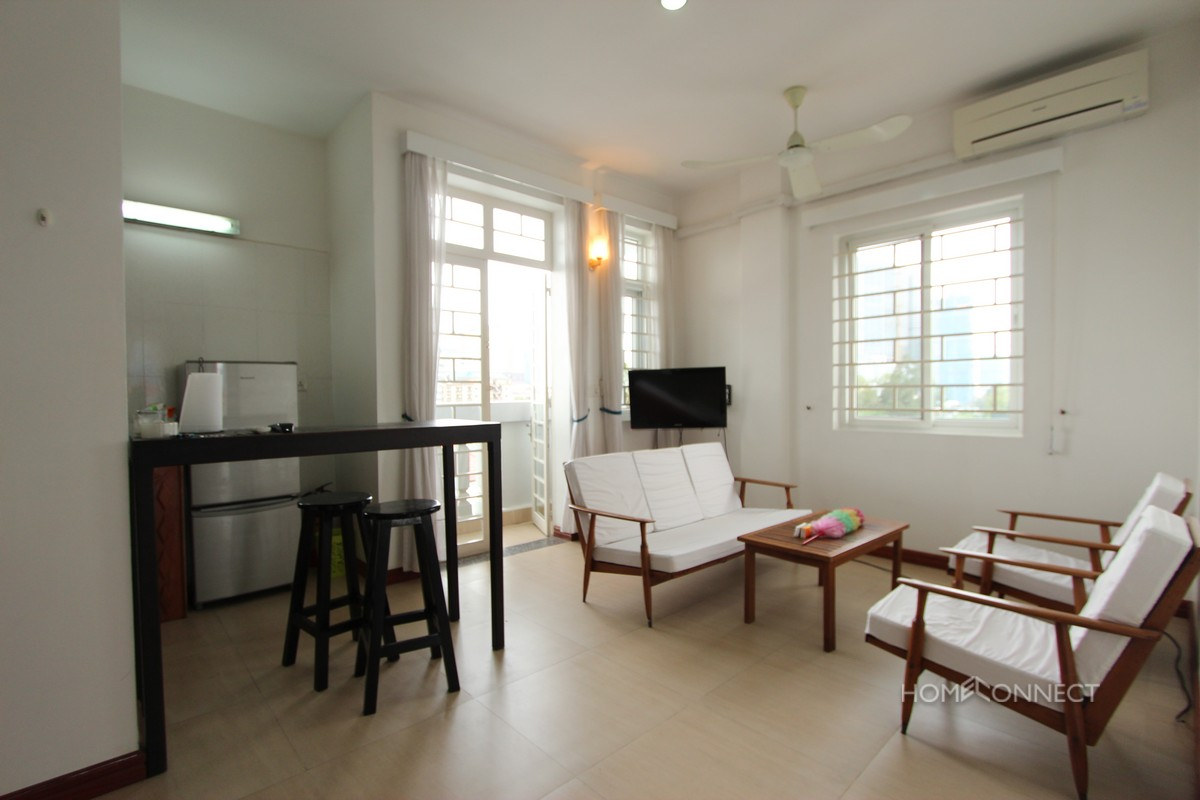 Budget 1 Bedroom 2 Bathroom Apartment for Rent in Tonle Bassac | Phnom Penh Real Estate
