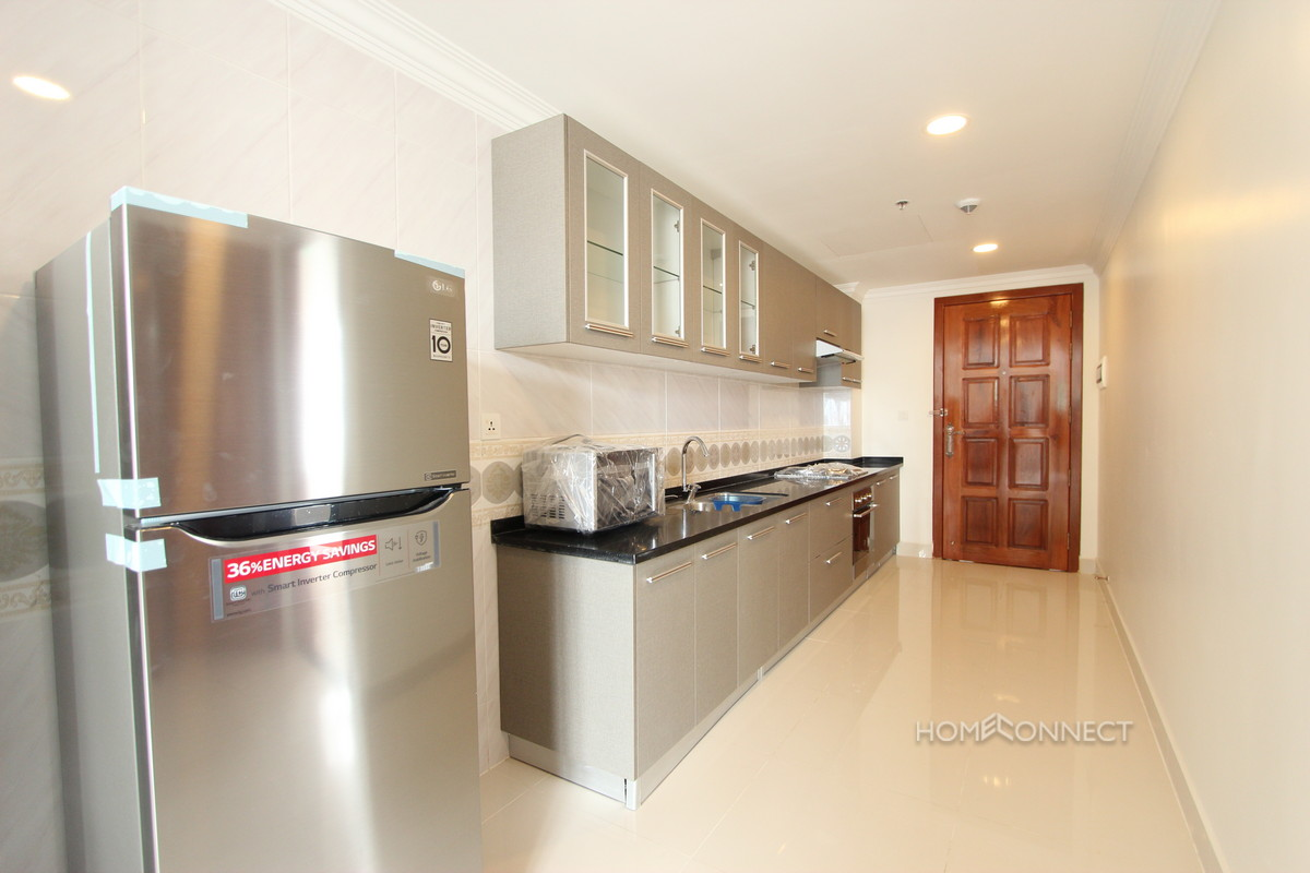 Western Style Large 1 Bedroom Apartment For Rent in BKK1 | Phnom Penh Real Estate