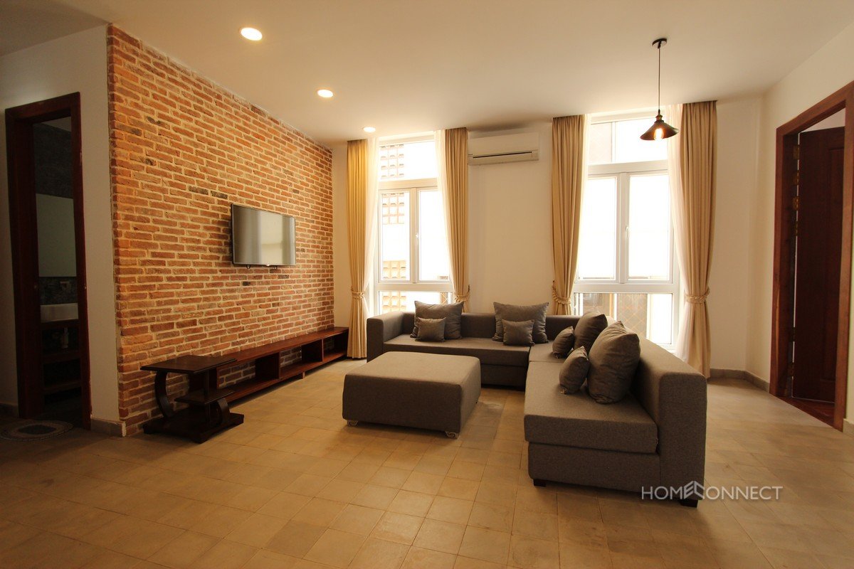 Modern Serviced 2 Bedroom 3 Bathroom Apartment for Rent in BKK1 | Phnom Penh Real Estate