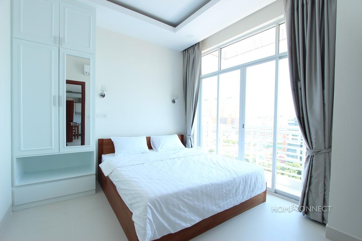 Brand New High Rise 1 Bedroom 1 Bathroom Apartment For Rent in Tonle Bassac | Phnom Penh Real Estate