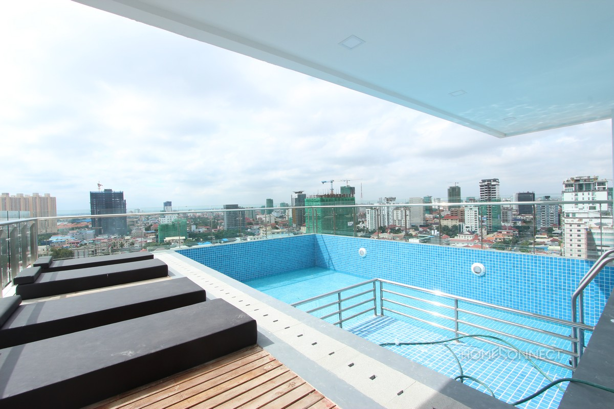 Brand New High Rise 1 Bedroom 1 Bathroom Apartment For Rent in Tonle Bassac | Phnom Penh Real Estate