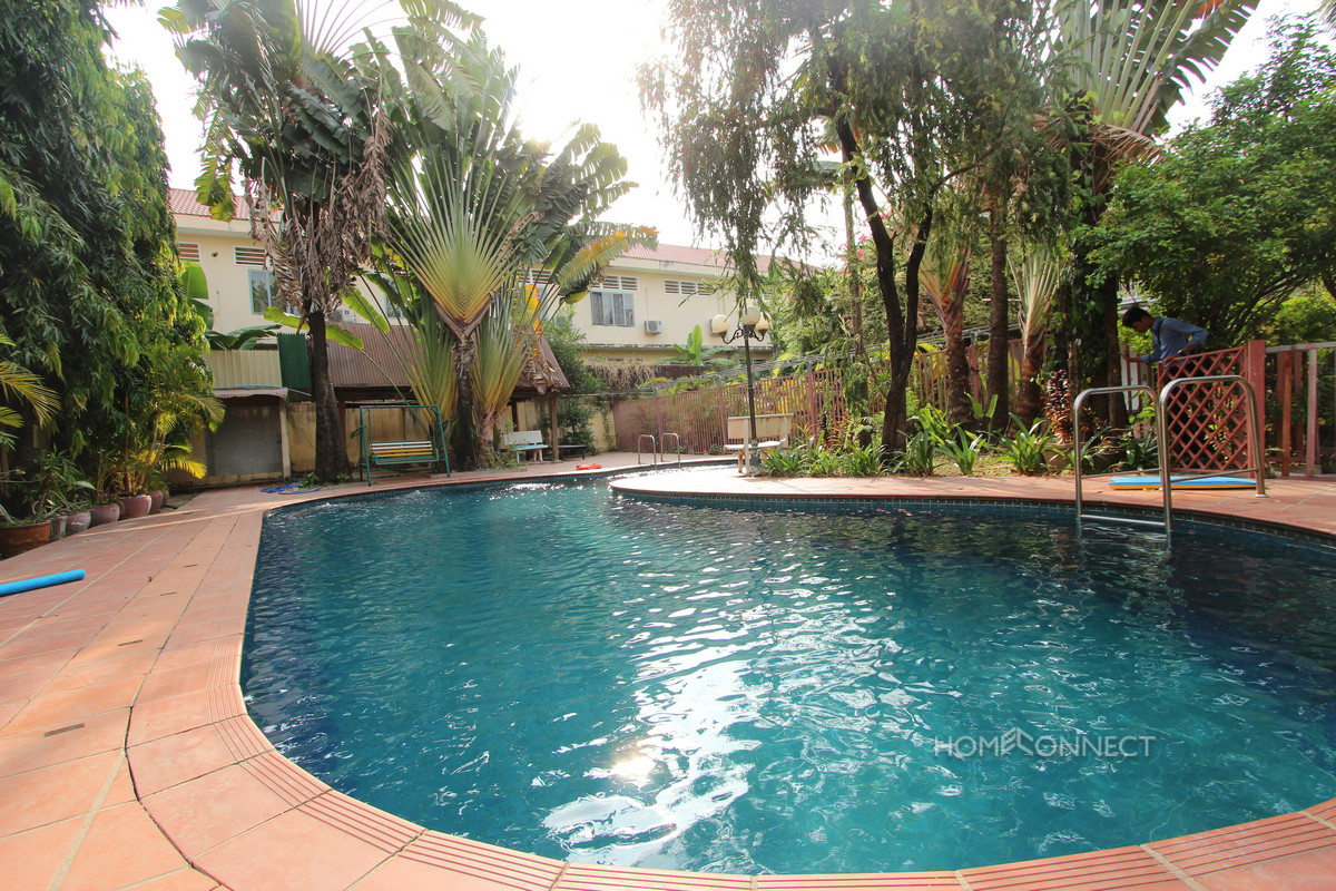 Swimming Pool 3 Bedroom Villa For Rent in BKK1 | Phnom Penh Real Estate
