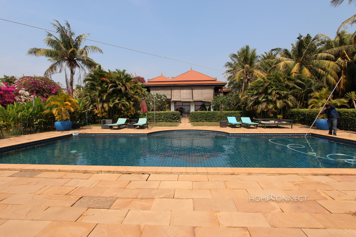 Beautiful 5 bedroom Villa For Sale on The Mekong | Phnom Penh Real Estate